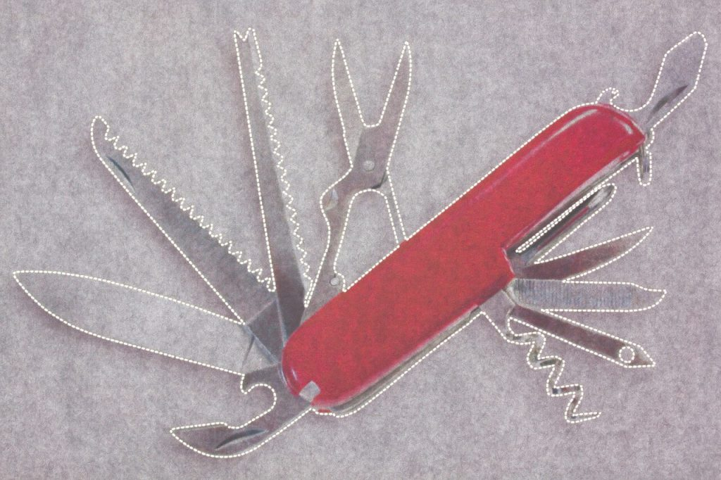 Red pocket knife